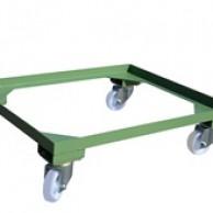 OPTIONAL : carrello con 2 ruote fisse e 2 girevoli