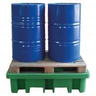 Vasca in polietilene RICICLATO per 2 fusti a carico diretto