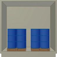 Container Coibentato 6/8 fusti in verticale