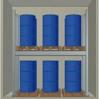 Container Coibentato 12/16 fusti in verticale