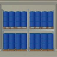 Container Coibentato 32 fusti in verticale