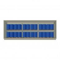 Container Coibentato 48 fusti in verticale