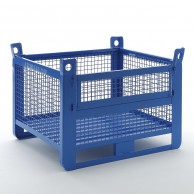 Wire mesh containers with front opening door (1500Kg)