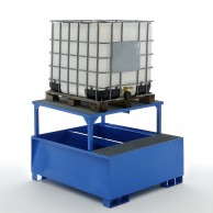 Sump pallets for IBC containers