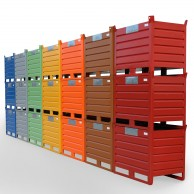 Industrial stacking containers