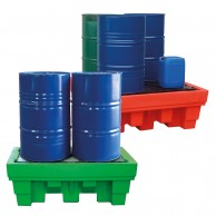 Polyethylene sump pallets for drums