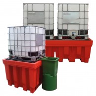 Polyethylene sump pallets for IBC's